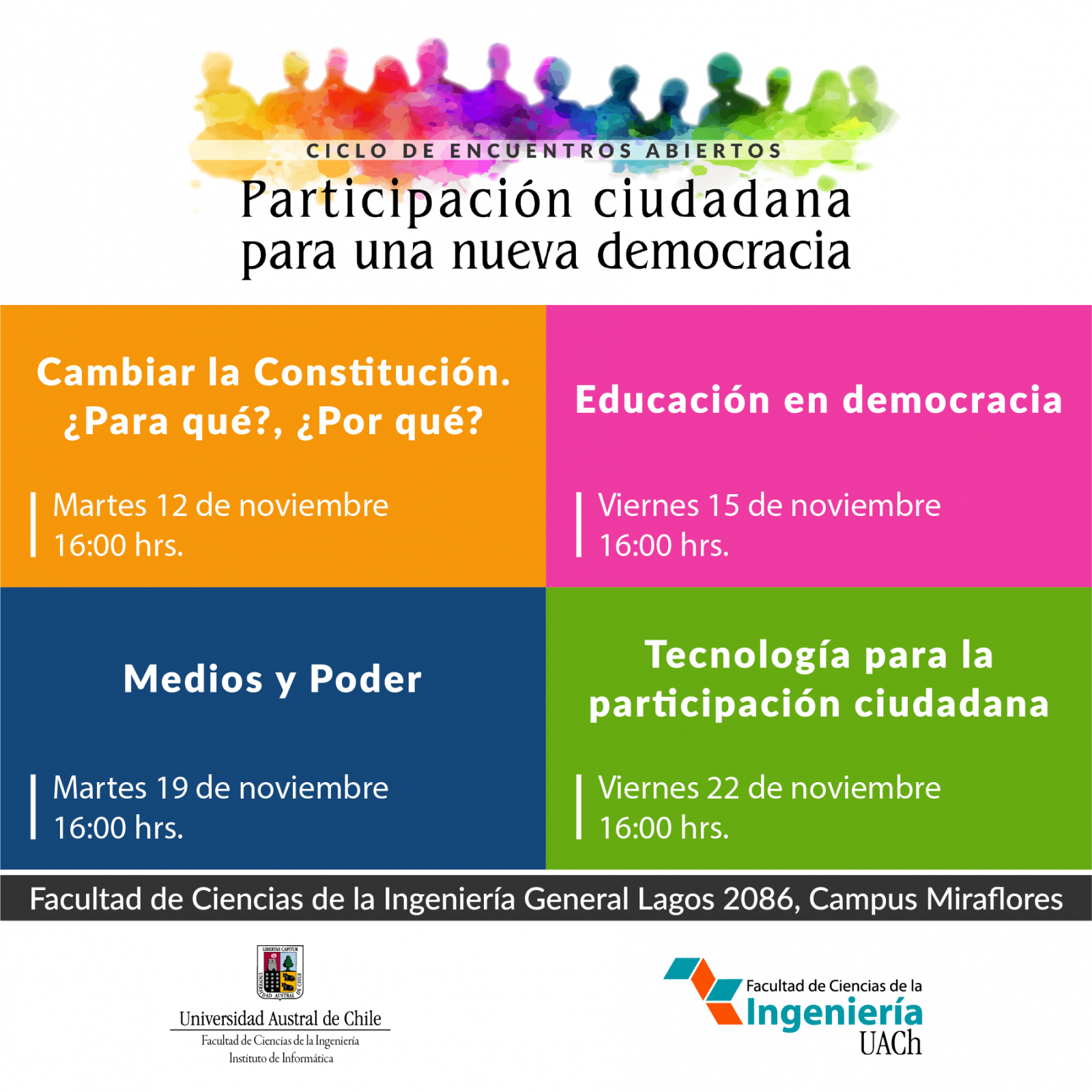 """Invitan a participar del Ciclo de Encuentros Abiertos """"Participación ciudadana para una nueva democracia"""""""